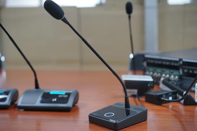 High Fidelity Sound Cat5 Cable Connect Audio Conference Microphone For Meeting Room