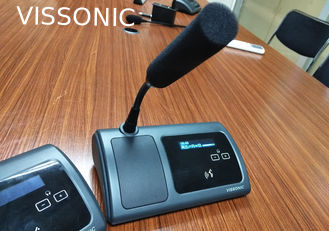 China Portable Desktop Conference Microphone Delegate Unit / Audio Conference System supplier