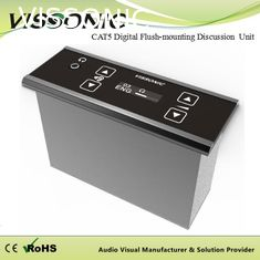 China Flush Mounting Conference Room Microphone CAT5 Digital 64 Channels Selector Unit supplier
