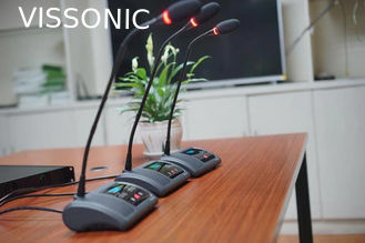 China Vissonic OLED Display Desktop Conference Microphone For Conference Room supplier