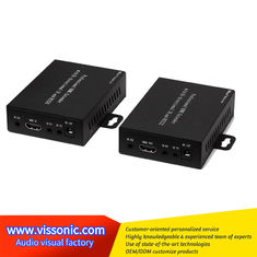 China Remote Control Video Scaler Switcher HDMI Cat5 Extender Light Thin Case Design supplier