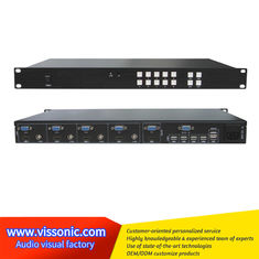 China 4x1 Multi Viewer Video Scaler Switcher With KVM Control For Video / Animation supplier