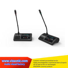 China Digital Gooseneck Wireless Conference Microphone ABS Material Black Color supplier