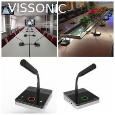 China Microphone Audio Conference Sound Equipment CAT5 Wired Digital Discussion System supplier