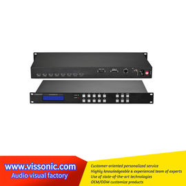 China Black Seamless Hdmi Switcher / UHD4Kx2K HDMI 4x4 Seamless Video Switcher factory