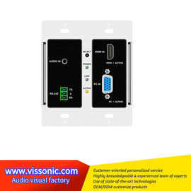 China Full Digital Seamless Matrix Switcher HDMI / VGA To HDBaseT Wallplate VIS-HE20 factory